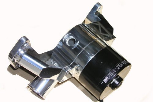 Meziere Enterprises Wp301Up Small Block Chevy Electric Water Pump - Polished - 55Gpm - With Heater Hose Fitting