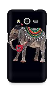 Amez designer printed 3d premium high quality back case cover for Samsung Galaxy Core 2 (Elephant illust art oana befort dark)