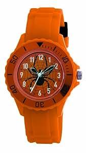 Tikkers Jungen-Armbanduhr Analog Plastik orange TK0032