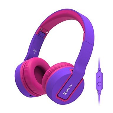 Zcl Bingle I681 Fashion Music Sharing Stereo Headphone With Microphone For Pc/Pad/Cellphone/Mp3 (Purple/Black/White) , Purple