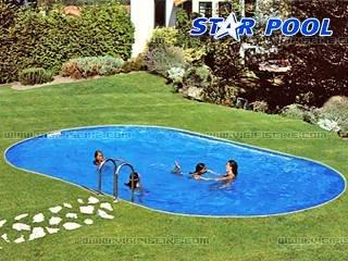 Piscine enterr e acier star pool for Achat piscine enterree