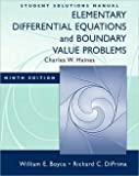 Elementary Differential Equations: Instructor's Solution Manual (0470424737) by Boyce, William E.