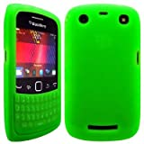 Wayzon Green Blackberry Curve 9360 Case Cover Skin Pouch Shell Keypad Style Silica Rubber