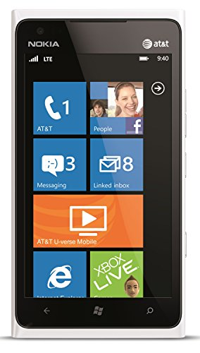 Nokia Lumia 900 16Gb Unlocked Gsm Phone With Windows 7.5 Os, Amoled Touchscreen, 8Mp Camera, Gps, Wi-Fi, Bluetooth, Fm Radio And Microsd Slot - White