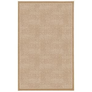 Casual Concepts Tiger Patch Clay Beige Rug Rug Size: 8' x 10'