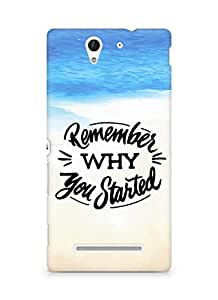 AMEZ remember why you started Back Cover For Sony Xperia C3 D2502