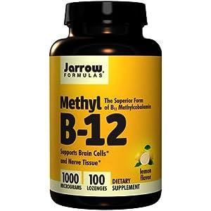 Jarrow Formulas Methyl-B12, Lemon Flavor, 1000mcg, 400 Lozenges , Jarrow-sjf8