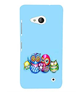 EPICCASE Owl family Mobile Back Case Cover For Microsoft Lumia 550 (Designer Case)