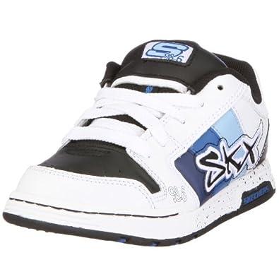 Skechers 91842L WBKB Endorse Stream, Jungen Sneaker, Weiss (WBKB), EU 27.5