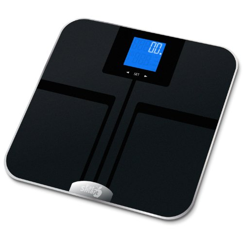 EatSmart Precision GetFit Digital Body Fat Scale w 400 lb. Capacity and Auto Recognition Technology