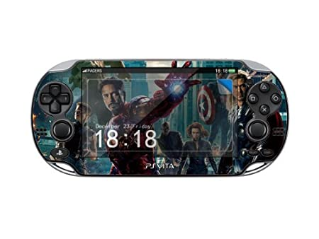 The Avengers PACERS Protector Skin Decal Sticker for Play Station Vita (PSV), Item No.1180-90