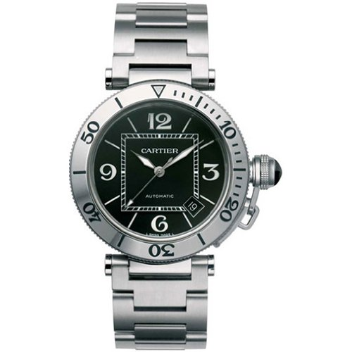Cartier Men's W31077M7 Pasha Seatimer Automatic Stainless Steel Watch
