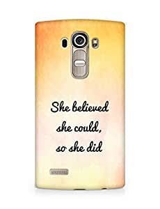 AMEZ she believed she could so she did Back Cover For LG G4