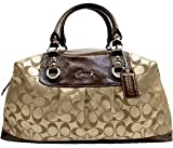 41Oj0AcCIyL. SL160  Coach Signature Large Ashley Sabrina Business Satchel Duffle 15440 Khaki Mahogany Reviews
