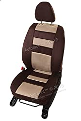Autofact Brand Suede / Buff Velvet Car Seat Covers for Maruti Car 800 Old Model in Coco and Beige Combination