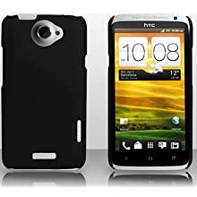 Black Ultra Thin Rubberized Matte Hard Case Cover for HTC ONE X S720E