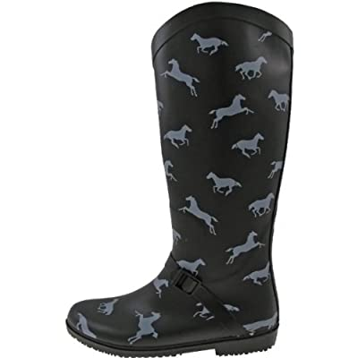 Capelli New York Rain Boots 'Running Horses', black