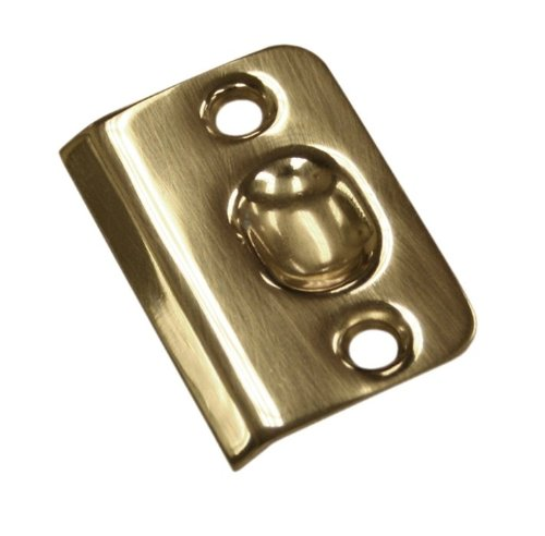 Deltana Spb349 Door Strike For Drive In Ball Catch, Polished Brass