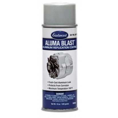 Eastwood Aluma Blast Aerosol Paint 340g - protection and durable finish for smooth-cast aluminium components.