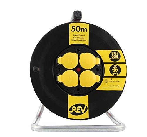 REV-Ritter-Kunststoff-Kabeltrommel-Outdoor-Baustellentauglich-robust-BGI608-IP-44-50-m-schwarz-gelb-1-Stck-kostenlose-Lieferung