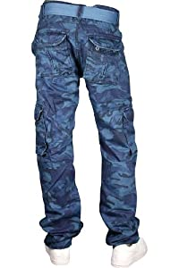 Jordan Craig Camo Cargo Pants Slim Fit Navy Blue. Size: 44 x 32