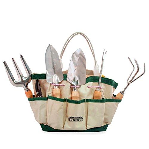gardenhome-7-piece-garden-tool-set-garden-tool-and-tote-set
