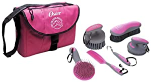 Oster Equine Care Series 7-Piece Grooming Kit, Pink
