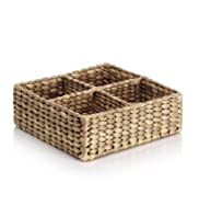 Water Hyacinth 4 Divider Basket [T36-1773-S]
