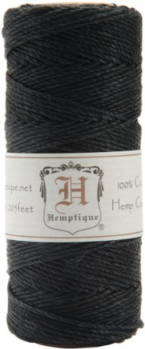 Hemptique 20 Lbs Hemp Cord Spool Black