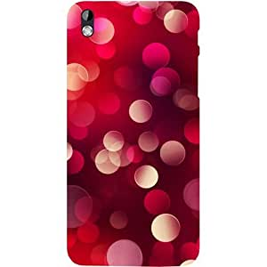Casotec 3D Circles Design Hard Back Case Cover for HTC Desire 816