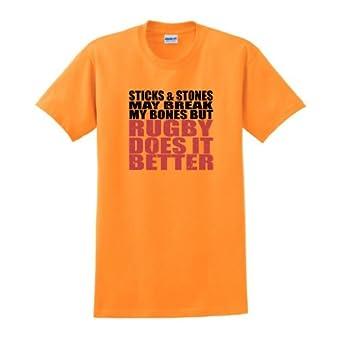 Buy Sticks Stones Break Bones Rugby Better T-Shirt by ThisWear