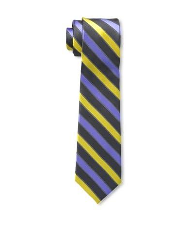 Ben Sherman Men's Stripe Tie, Navy/Yellow