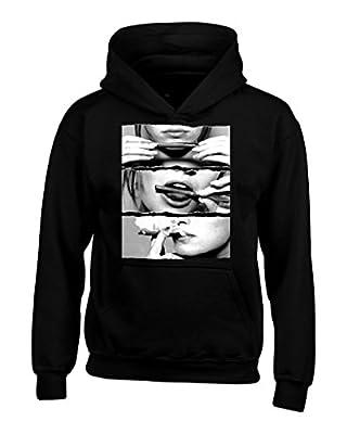 Shop4Ever® Blunt Roll Black & White Hoodies Weed Stoner Sweatshirts