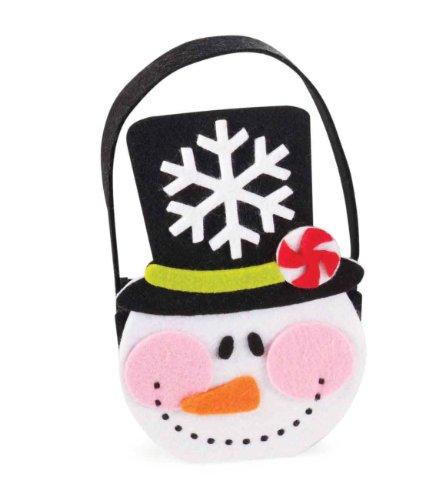 Mud Pie North Pole Felt Treat Bag, Snowman