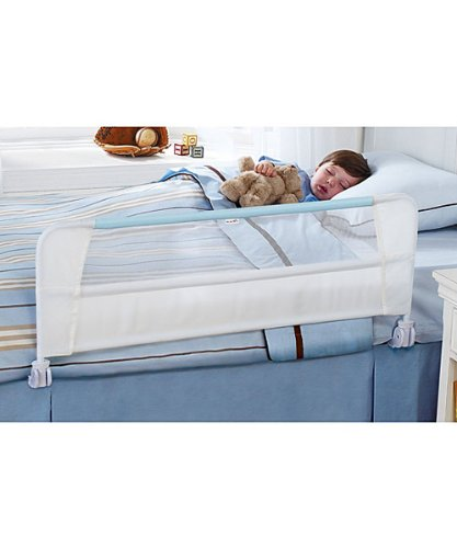 Munchkin Safety Toddler Bed Rail, White/Blue - 1