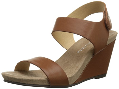 CL by Chinese Laundry Women's Tilly Soft Burnis Wedge Sandal, Rich Brown, 8 M US