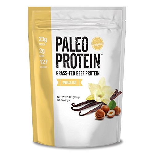 Paleo Protein Grass-Fed Beef Protein Powder with Probiotics, Vanilla Nut, 2 lbs (Bakery Paleo Protein compare prices)