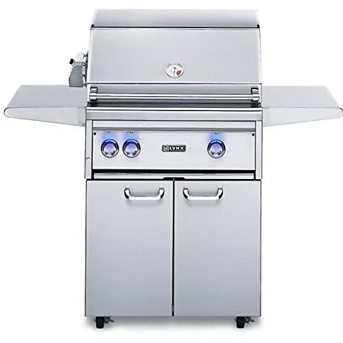Lynx L27Fr-2-Ng Natural Gas Grill-On Cart With Rotisserie, 27-Inch