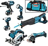 Makita LXT600 6 Piece Kit 18V