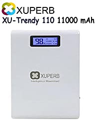 Xuperb (TRENDY-110) 11000 mAh Power Bank With Display (White)