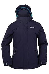Mountain Warehouse Spirit Womens Insulated Hooded Fleece Lined Snowboarding Skiing Ski Jacket Navy 10
