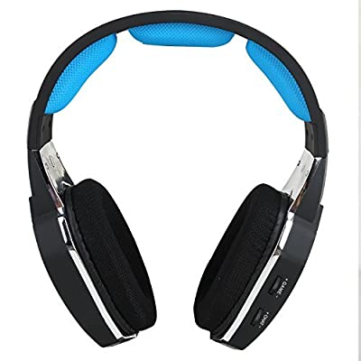 HUHD 2.4Ghz Optical Wireless Gaming Headset For XBox 360, PS4/3, PC, Compatible With XBox One If You Have Kinect or Microsoft Adapter , Upgrade Detachable Microphone