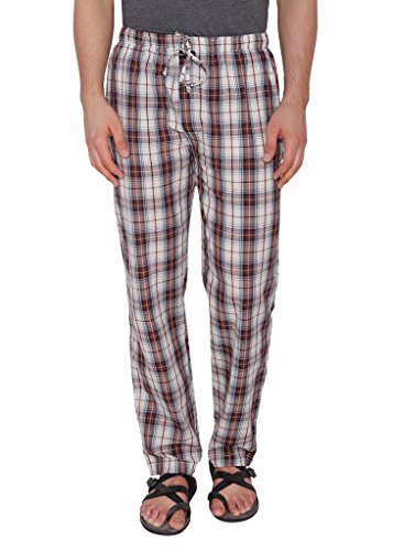 NickJess-Mens-Brown-Checkered-100-Cotton-Pyjamas