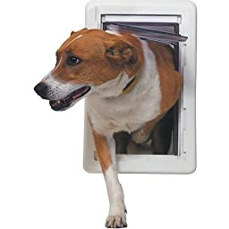 Ideal Ruff Weather Pet Door White, Medium for pets to 35 lbs.