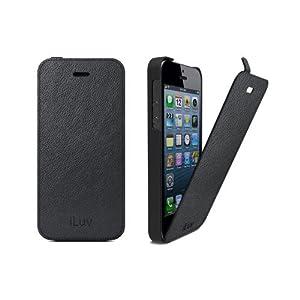 iLuv Envelop Etui en cuir pour iPhone 5S Noir