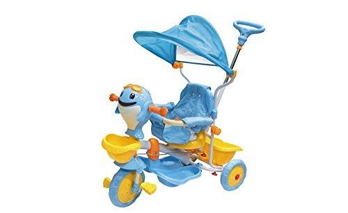 Triciclo per bambini Dolphin Boy con cappottina regolabile