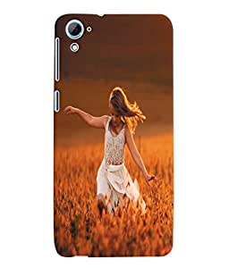 Fuson 3D Printed Beautiful Girl Designer Back Case Cover for HTC Desire 826 - D950