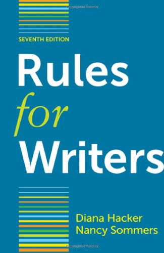 Rules for Writers with Writing about Literature (Tabbed...
