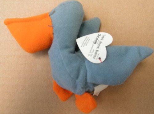 TY Teenie Beanie Babies Scoop the Pelican Bird Plush Toy Stuffed Animal - 1