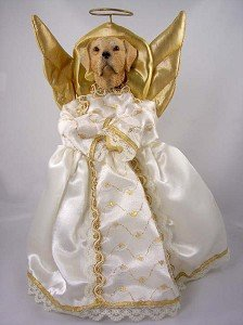 Christmas Puppy Dog Angels Tree Toppers | Christmas Wikii